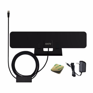 Indoor HDTV Antenna 40 Miles Range with 10ft Coaxial Cable