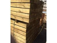 🍄WOODEN PRESSURE TREATED RAILWAY SLEEPERS ~ NEW