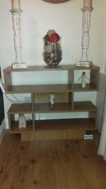 cubed wooden unit
