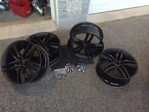 Audi s4 18x8 matt black mags