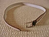 Men's Mens Pierre Cardin Brown Genuine Leather Suede Belt