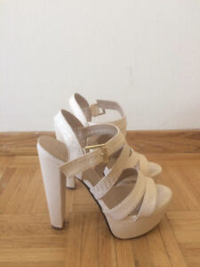 Super Nice and NEW cream high heels - Size 7.5