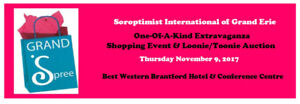 Vendors Wanted - Grand Spree Shopping & Loonie/Toonie Auction