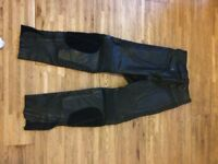Female leather biker trousers