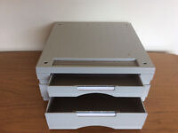Computer Monitor Stand With 2 Storage/Paper Drawers