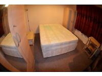 LARGE DOUBLE BED ROOM WITH LIVING ROOM TOILET AND GARDEN ACCESS ON GROUND FLOOR