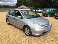 2001 Honda Civic 1.4 SE Service History 2 Keys Cheap Car