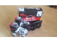 SFR Miami Rollerskate with Skate Protection Pads
