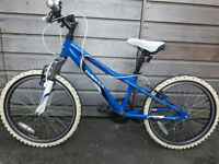 "Dawes Redtail 20"" wheel 11"" frame kids suspension mountain bike blue"