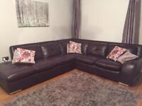 Deluxe Leather Corner Sofa