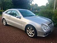 2005/ STUNNING / LOW MILES C CLASS COUPE / LEATHER / AUTO / APRIL MOT .