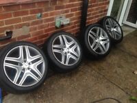 20 Mercedes 5x112 alloys ml s e class Audi A8 a8 wheels bbs amg 19 21