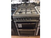 New Graded Flavel Milano G60 Silver 60cm Gas Cooker £229