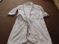 J By Jasper Conran Mens White Striped Velour Dressing Gown From Debenhams