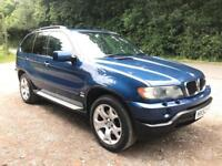 BMW X5 3.0i, petrol, automatic, 12 months MOT, black leather, lovely condition
