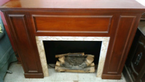 Electric Fire Place, Record Player, Radio & Bar