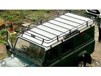 land rover defender 110 full brand new roof rack never used powder coated black