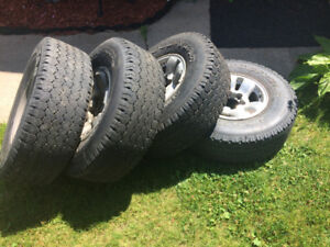 4 15 inch Tires and Rims  Goodyear M+S 31x10.50R 15LT