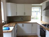 Howdens kitchen with solid oak worktop used