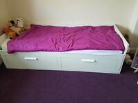 Ikea brimnes singke bed pulls out to double bed