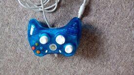 Blue xbox controller 360