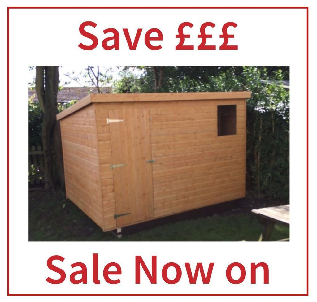 8x6 pent roof garden sheds all sizes free delivery installation