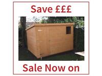 8x6 Pent roof Garden Sheds (ALL SIZES) (Free Delivery & Installation)