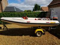 4.3m Rib Flatacraft with outboard