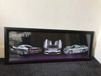 Silver sports car picture frame