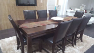 Elegant Dining Table Set with 8 Chairs