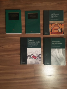 Lambton College Term 4 Law Clerk Textbooks