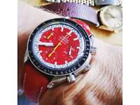 Omega speedmaster automatic red dial genuine Swiss made watch