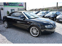 Audi A4 Cabriolet 2.4 SPORT BLACK 2004 MODEL + BEAUTIFUL+