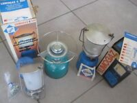 camping gaz stove and lights