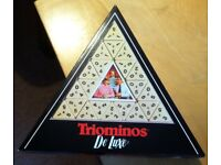 Triominoes De Luxe. 3 sided dominoes game. Excellent condition. Hardly used. Made by Goliath.
