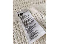 Mothercare open weave blanket