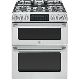 GE, Cafe  DOUBLE OVEN GAS CONVECTION SELF-CLEANING Stove