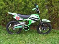 CAN DELIVER - KAWASAKI PEDAL POWERED BIKE / MOTORBIKE IN VERY GOOD CONDITION - 16'' WHEELS