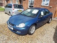 Chrysler Neon LX 2lt Petrol Low Milage