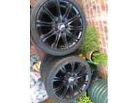 Alloy wheels black x4