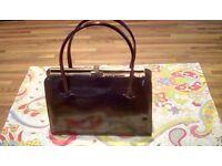 Vintage 1970's Nil-Sim-il-e patent leather handbag £15