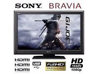 "Sony Bravia 40"" Full HD 1080p Flat LCD TV with Freeview HD + 4x HDMI + USB Port, not 32 37 39 42 43"