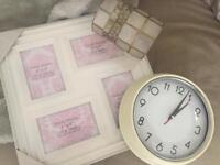 Clock picture frame lampshade bundle