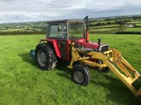 Massey Ferguson 565 Loader tractor & link box no vat 3000hours