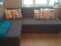 Ikea 2 year old grey corner sofa / sofa bed
