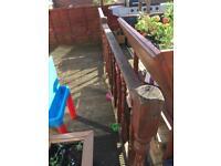 Wooden decking bannister