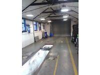 MOT center garage mechanic workshop