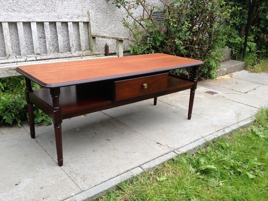 Long solid mahogany danish style coffee table vgc in stirling long solid mahogany danish style coffee table vgc geotapseo Gallery