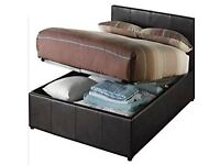 Hygena Othello double ottoman bed with instructions & oak dining table