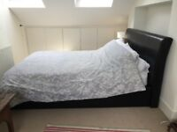 kingsize bed with orthopaedic mattress and built in storage under mattress